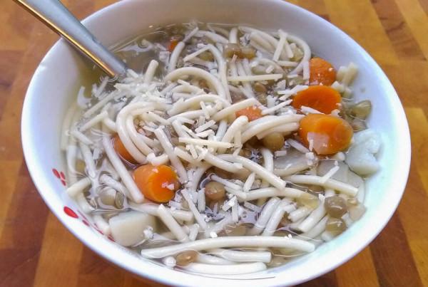gluten free pasta with lentils