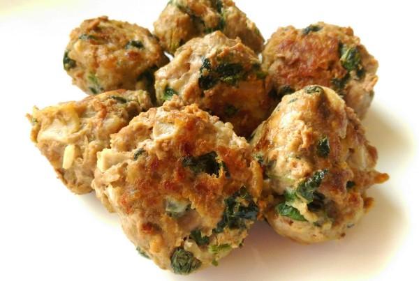 grain free spinach cilantro meatball